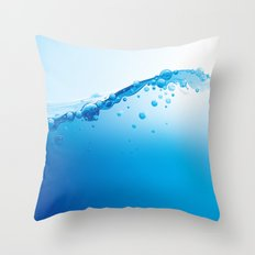 Full of Water Throw Pillow