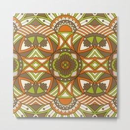 Boho Geometric Pattern 21 Metal Print