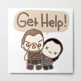 Get Help Metal Print