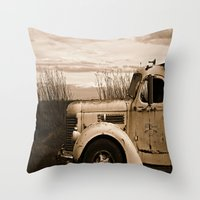 truck Throw Pillows featuring Vintage Truck by Urlaub Photography