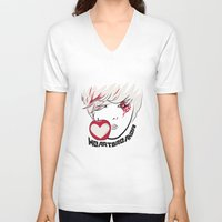 kpop V-neck T-shirts featuring Heartbreaker [G-Dragon] by Ruwah