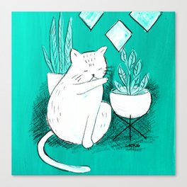 Turquoise Cat Canvas Print