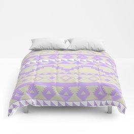 Aztec Pattern 2 Purple & Tan Comforters