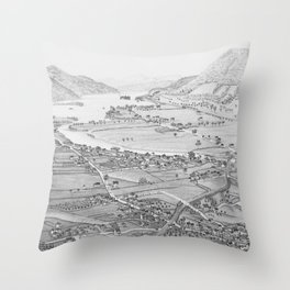Ticonderoga Map 1884 Throw Pillow