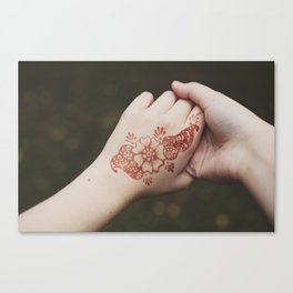 henna tattoo Canvas Print