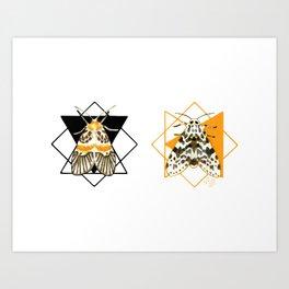 Mystic Moth Dyad - Night Flyers Art Print