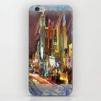 las vegas iPhone & iPod Skins featuring Vegas by Robin Curtiss