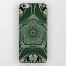 The Green Unsharp Mandala 2 iPhone Skin