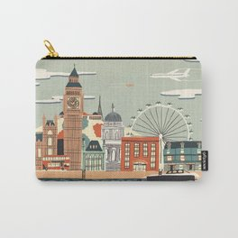 UK london art new love tower watch illustration iphone pillow 2018 trend popular sticker Carry-All Pouch