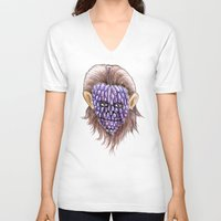 ape V-neck T-shirts featuring Grape Ape by ronnie mcneil