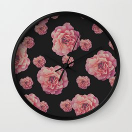 SPRING COMING (After Rene Magritte) Black Wall Clock