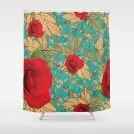 Rose with Dandelion Shower Curtain
