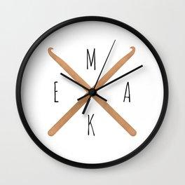 MAKE  |  Crochet Hooks Wall Clock