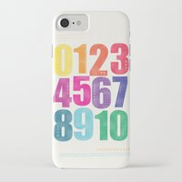 numbers iPhone & iPod Cases featuring Numbers by Laura Flowerday (PaperCrane)
