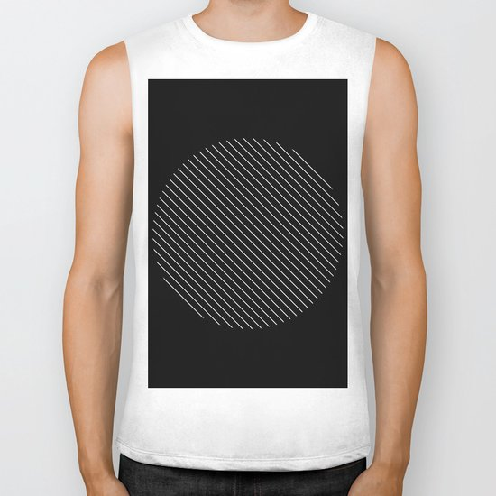 Tilt - Black and White Minimalism Abstract Biker Tank