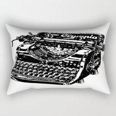 Old Typewriter Rectangular Pillow