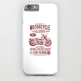 Motorcycle Classic iPhone Case