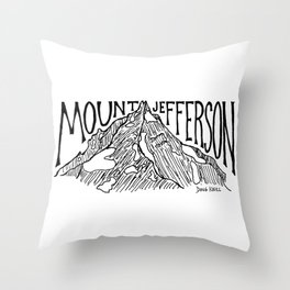 Mount Jefferson Throw Pillow