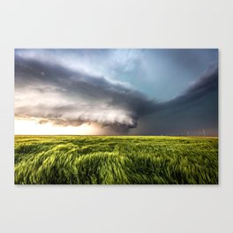 Leoti's Masterpiece - Incredible Storm in Western Kansas Canvas Print
