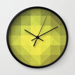 Kryptonite green poly pattern Wall Clock