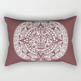 Mayan Calendar // Redwood Rectangular Pillow