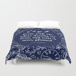 Where dreams are born Duvet Cover