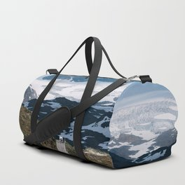 Caravan along a mountain road in Norway - Landscape Photography Duffle Bag