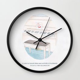 Haruki Murakami's Colorless Tsukuru Tazaki and His Years of Pilgrimage Watercolor Illustration Wall Clock