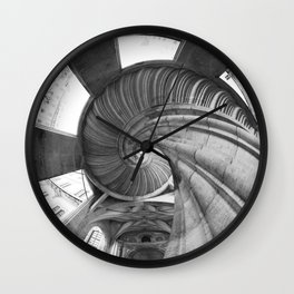 The spiral staircase in the Renaissance castle Hartenfels in Torgau / Saxony Wall Clock