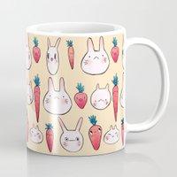 johannathemad Mugs featuring bunnys by JohannaTheMad