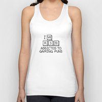 gaming Tank Tops featuring Gaming Puns by GeorgeCT