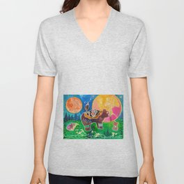 Family bear - animal - by LiliFlore Unisex V-Neck
