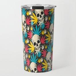 SKULL CANNABIS PATTERN Travel Mug
