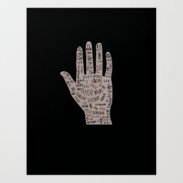 In your hand Art Print