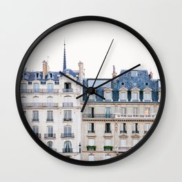 Tres Paris - Travel, Architecture Photography Wall Clock