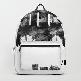 Cleveland Ohio Skyline BW Backpack