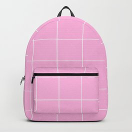 Graph Paper (White & Pink Pattern) Backpack