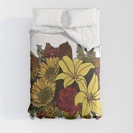 Fall Floral Bouquet Design Comforters
