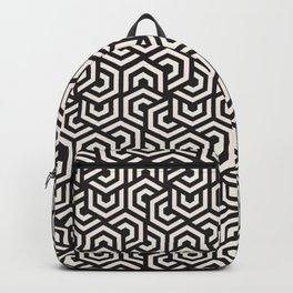 Abstract Black White Geometric Pattern Backpack