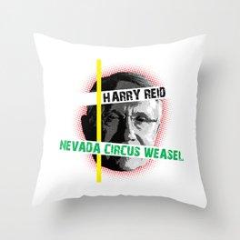 Harry Reid Is A Weasel Throw Pillow