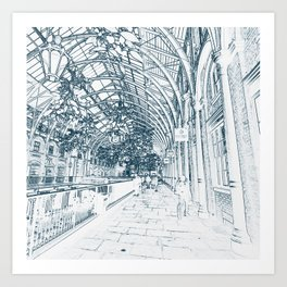 London Covent Garden at Christmas Art Print