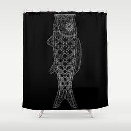 KOINOBORI b/w Shower Curtain