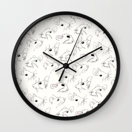 Rat Pattern Wall Clock