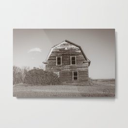 Barn House, Wells County, North Dakota 11 Metal Print