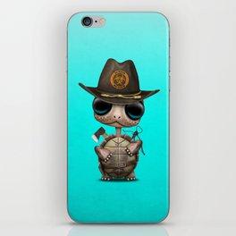 Baby Turtle Zombie Hunter iPhone Skin