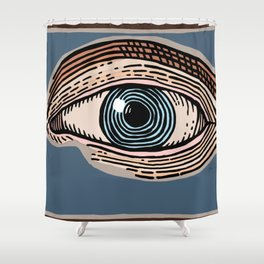 Engraved Eye Study in Color Shower Curtain
