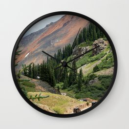 """Backroading"" above Red Mountain Pass, elevation 11,018 feet Wall Clock"