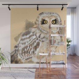 Short Eared Owl #2 Wall Mural