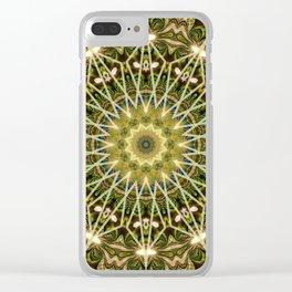 Geometric Forest Mandala Clear iPhone Case