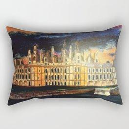 Chambord Chateau – Romantic France Rectangular Pillow